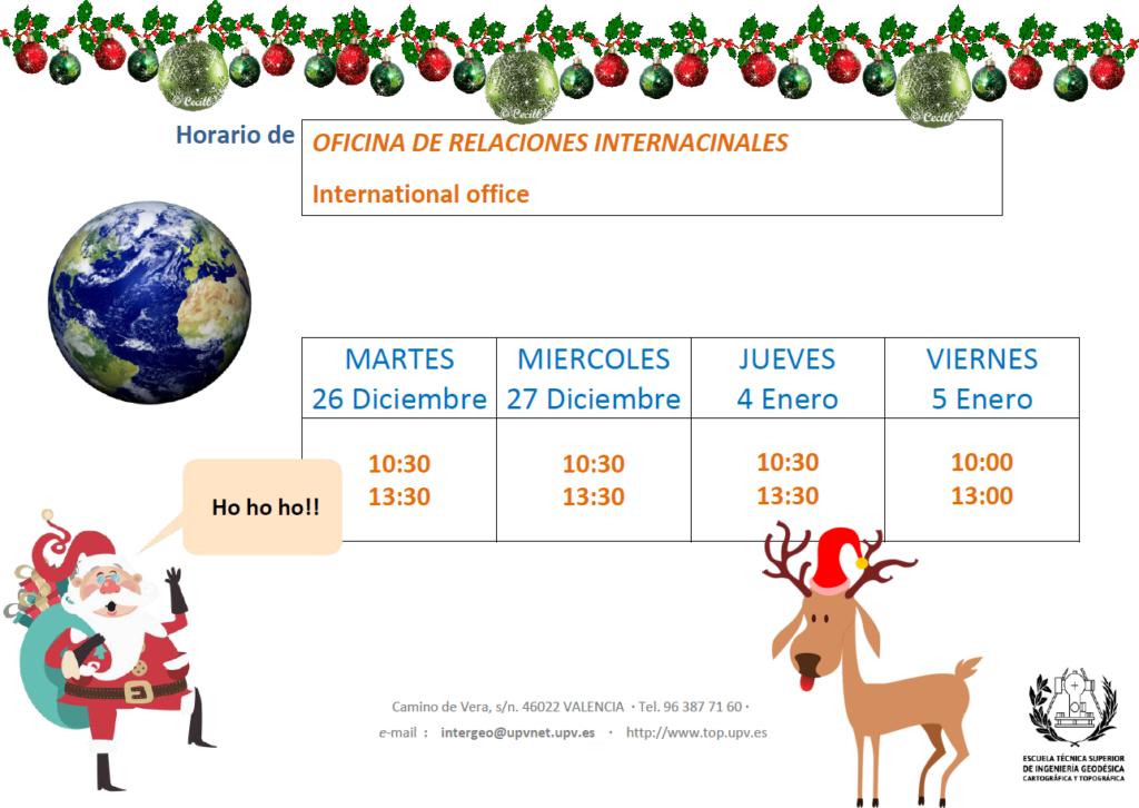 Horario de atenci n navidad international relations office for Oficina de correos horario